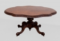 Antique Victorian burr walnut dining table. - picture 1