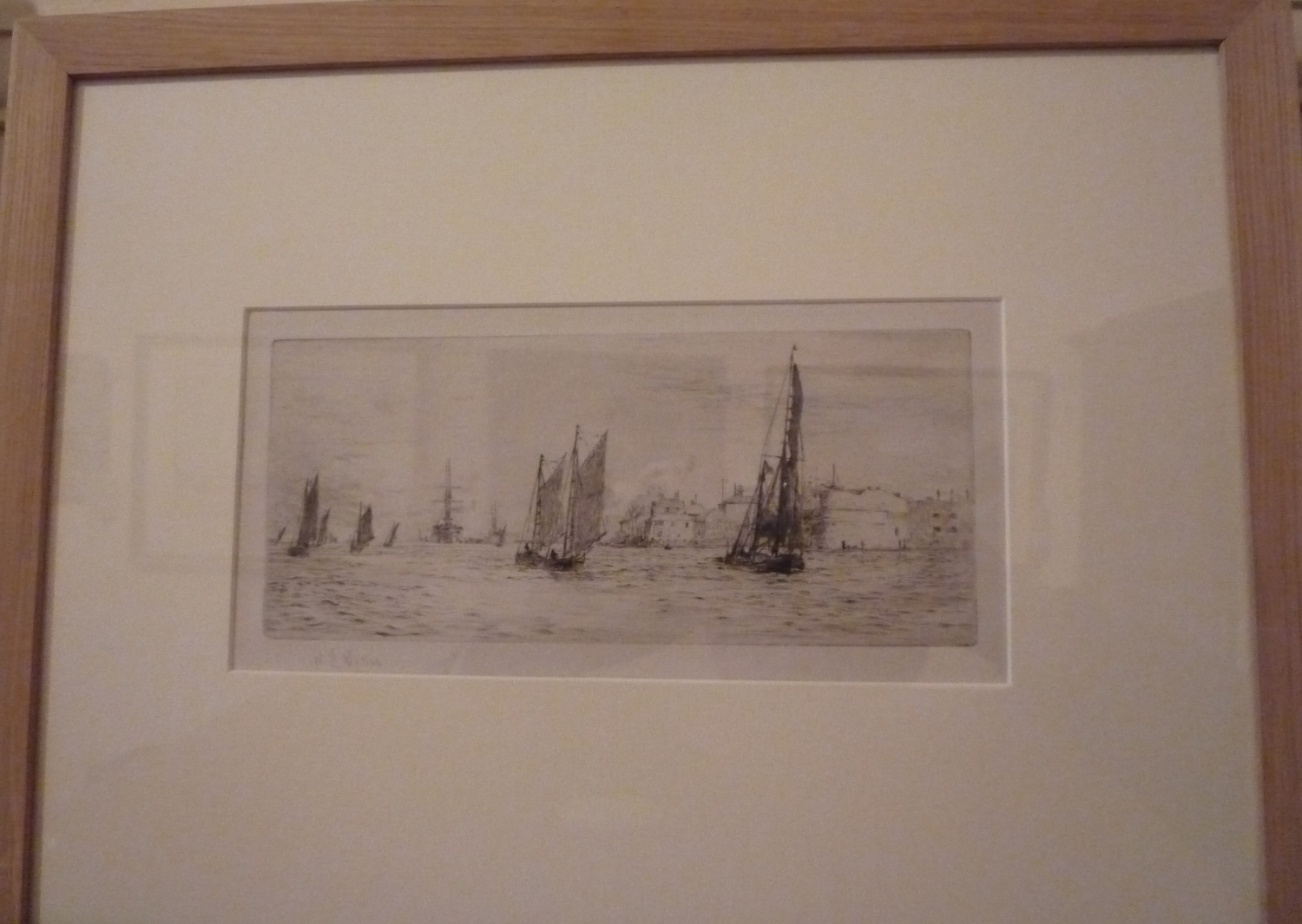 Etching by W.L.Wyllie 'Portsmouth entrance'