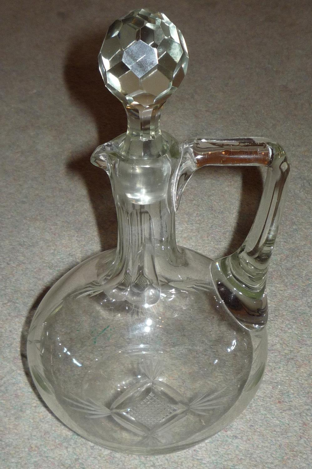 Cut glass Edwardian claret jug