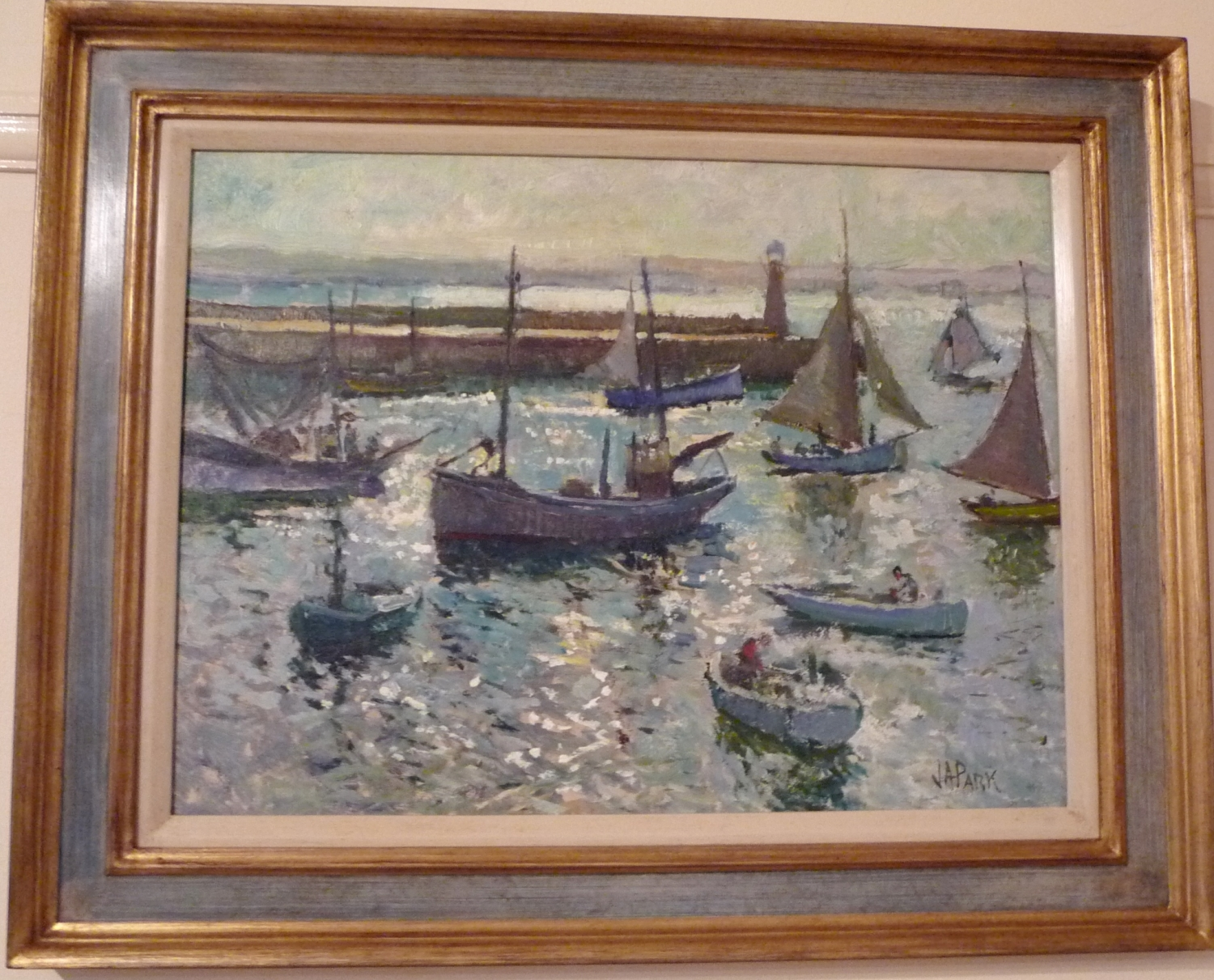 Oil painting of St.Ives by John Anthony Park