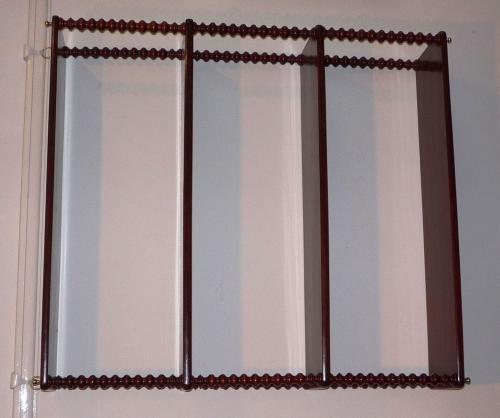 Large mahogany wall shelves c 1880