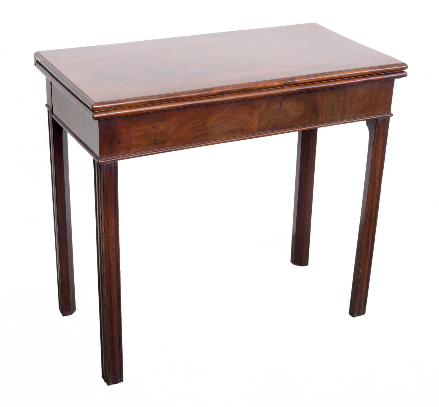 A Chippendale period mahogany card table.