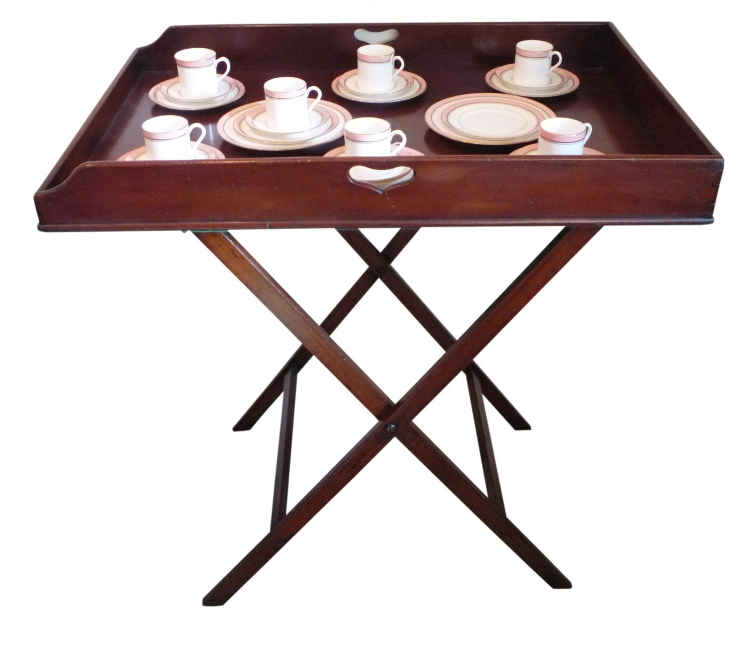 Victorian mahogany butlers tray & stand