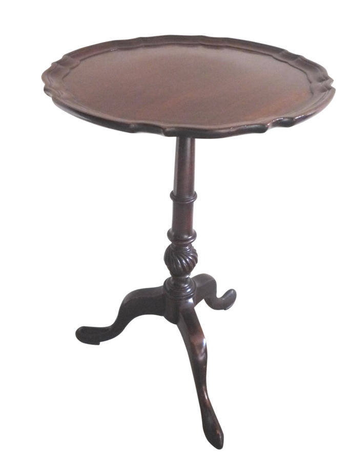 Mahogany tripod wine table circa 1920