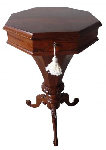 Victorian rosewood work table circa 1865