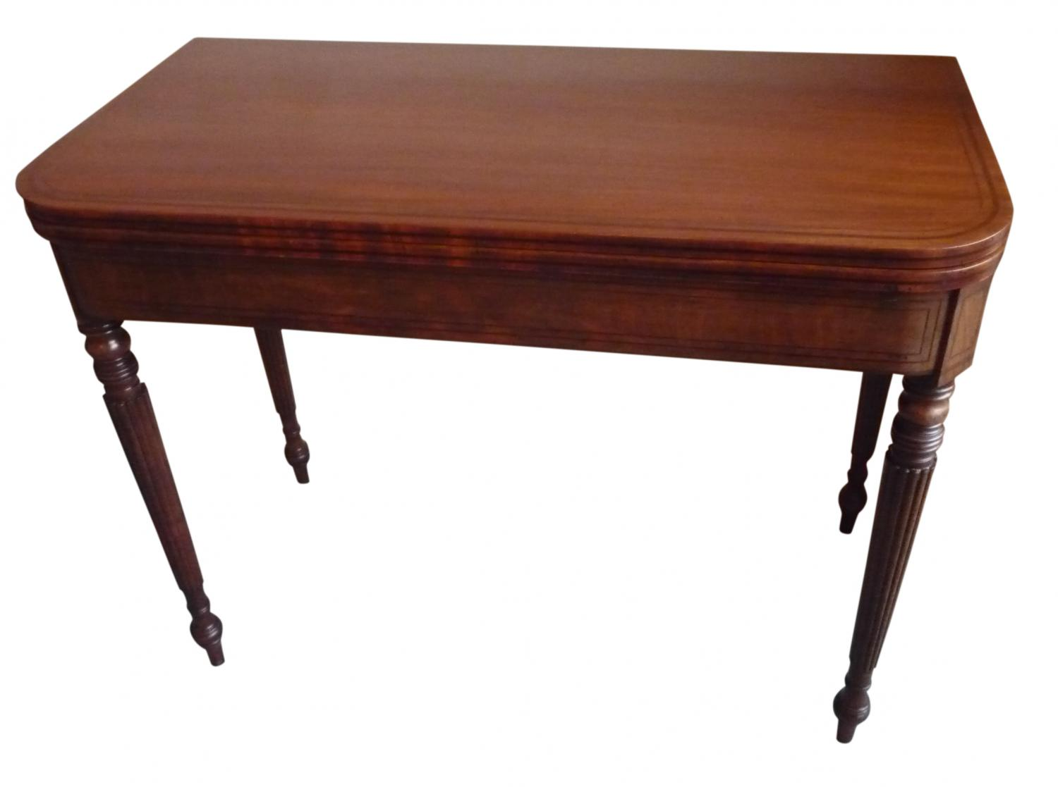 Georgian mahogany card table circa 1825