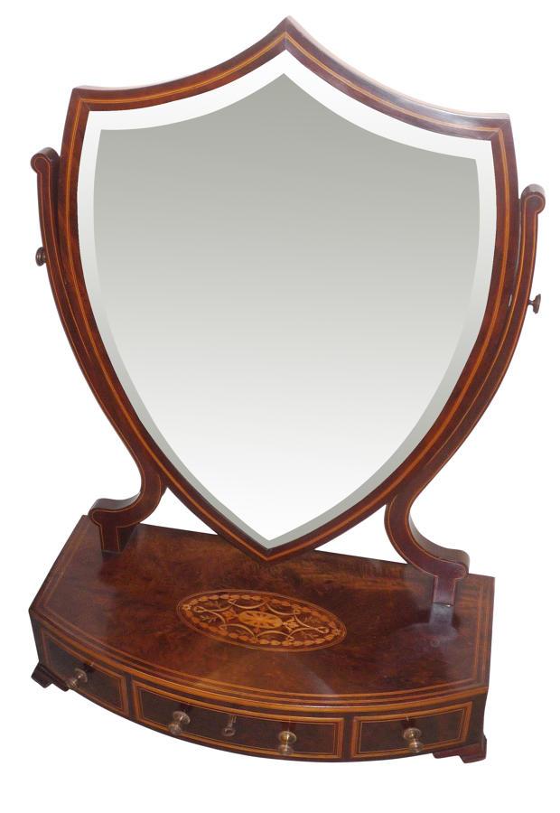 Inlaid mahogany toilet mirror Maple & Co