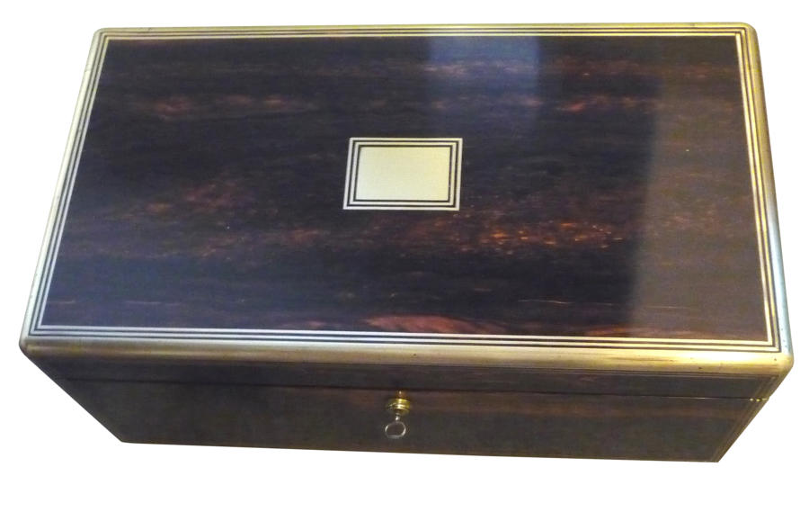 A fine large Victorian coromandel writing box