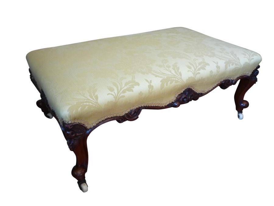 A fine Victorian walnut stool circa 1860