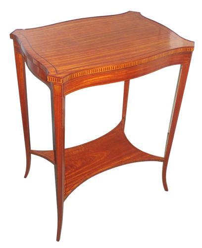 Edwardian inlaid satinwood table c 1905