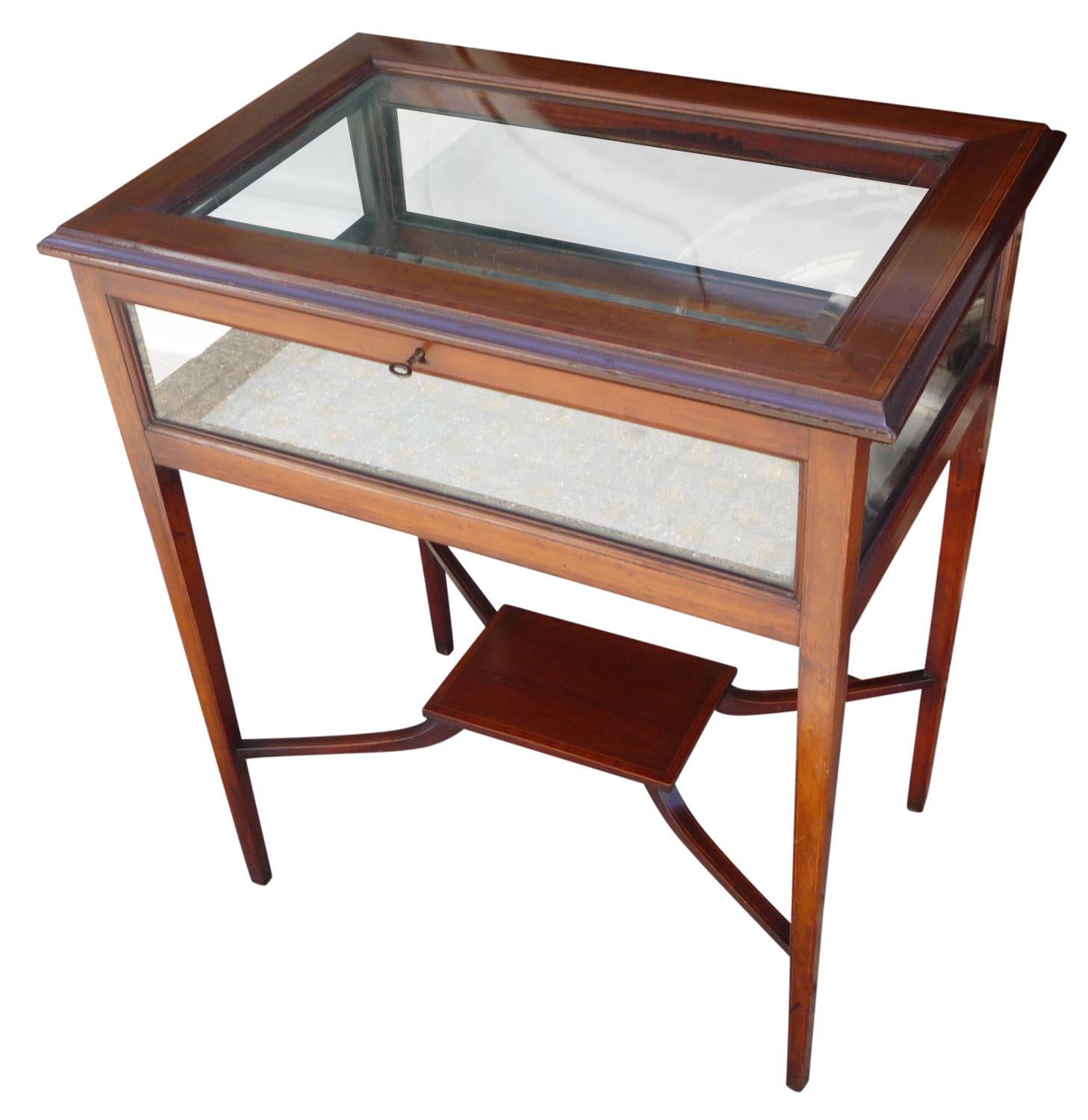Edwardian inlatd mahogany display table c1910