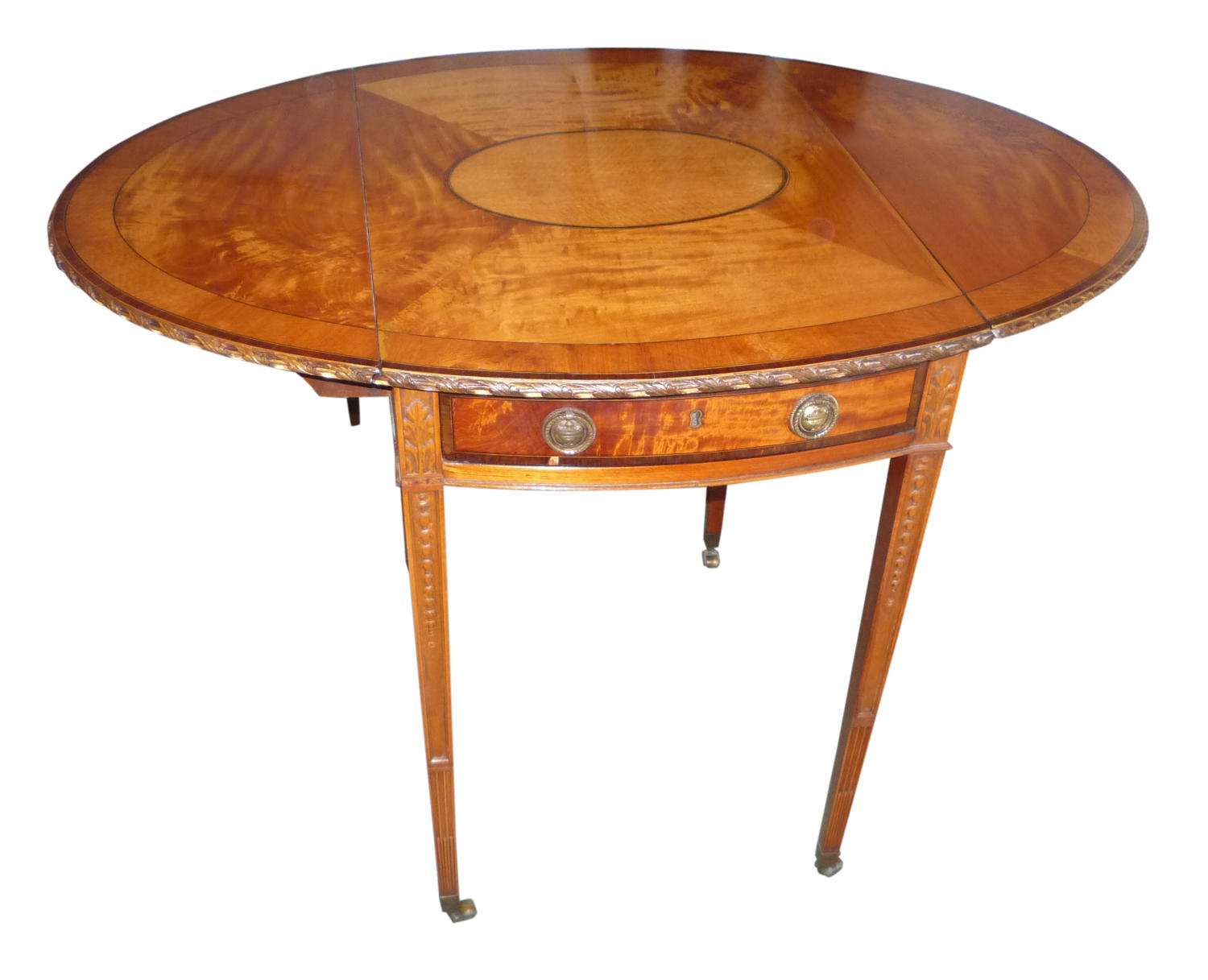 A fine inlaid satinwood Pembroke table.