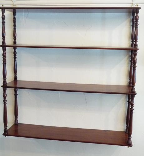 Mahogany wall shelves circa 1880