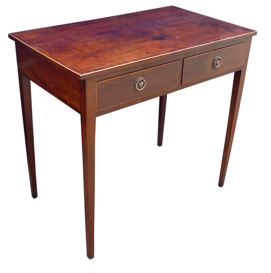 Georgian inlaid mahogany side table