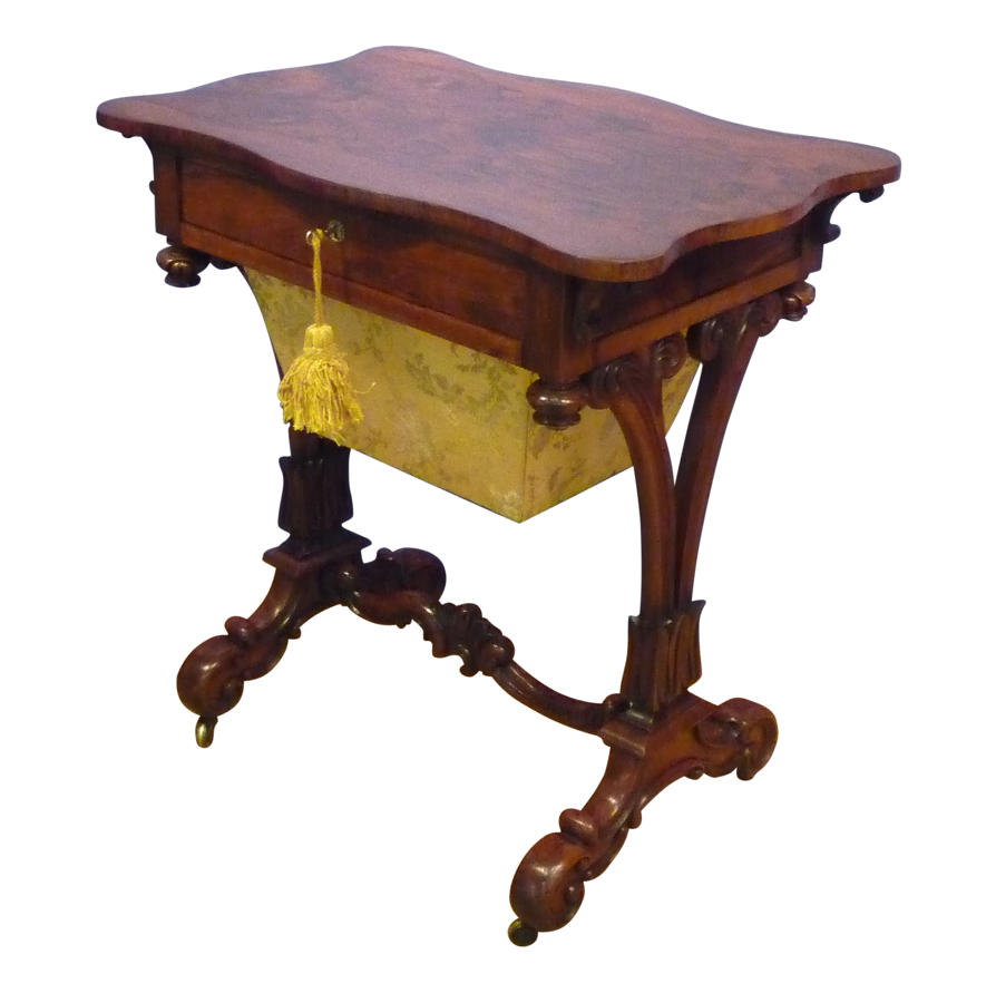 William IV rosewood work table circa 1835