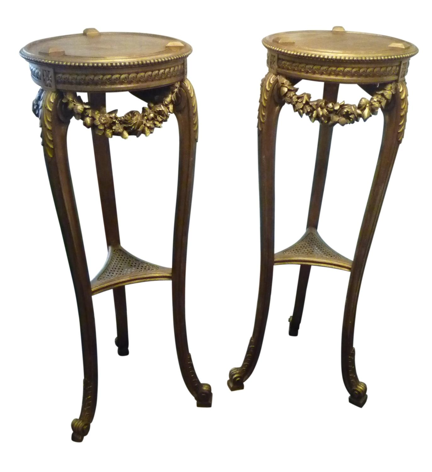 Pair of Gilt Torcheres c 1890