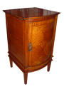 Edwardian inlaid satinwood bedside cupboard - picture 1