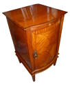 Edwardian inlaid satinwood bedside cupboard - picture 2