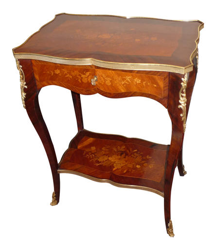 French marquetry side table circa 1890