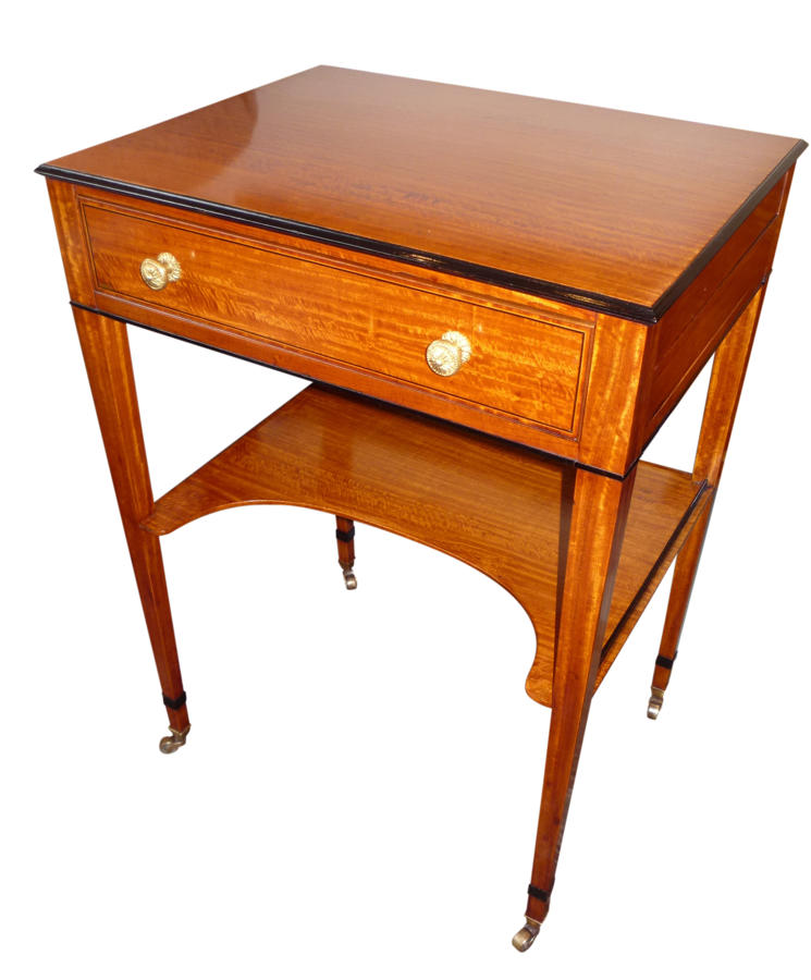 A fine satinwood ladies writing/ dressing table circa 1865