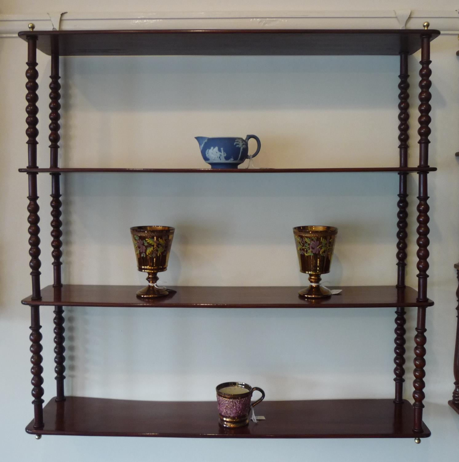 Attractive mahogany wall shelves circa 1880
