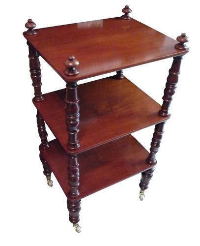 A small Victorian mahogany whatnot circa 1870