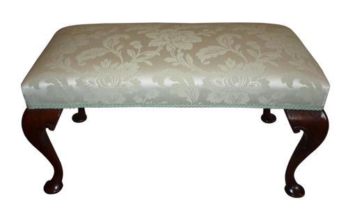 Queen Anne style walnut stool circa 1920