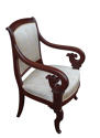 A fine pair of French mahogany  arm chairs, circa 1860 - picture 2