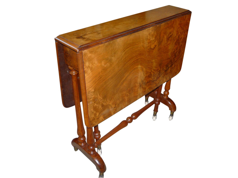 Victorian burr walnut sutherland table circa 1860