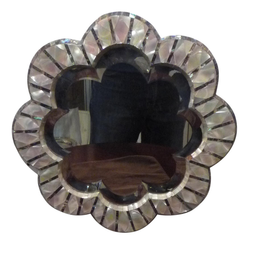Late Victorian mother of pearl mirror c1890