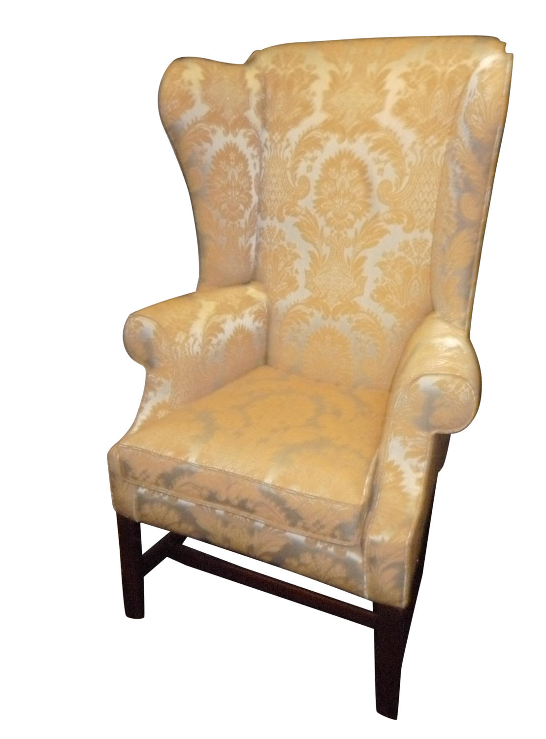 A small Georgian mahogany wing chair, circa 1800