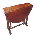 Victorian burr walnut sutherland table - picture 1