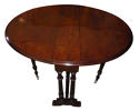 Victorian burr walnut sutherland table - picture 2