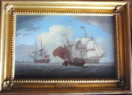 Marine Oil Painting by William Anderson c.1820
