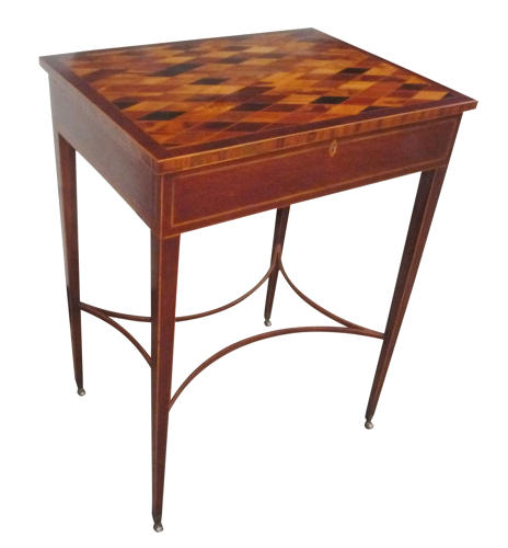A fine 19th century casuarina inlaid games table