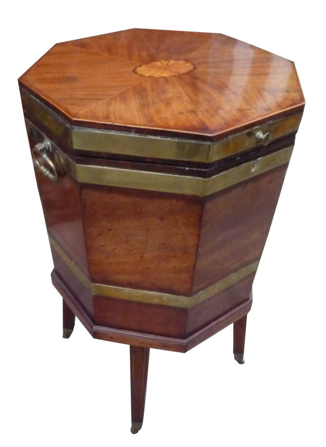 A fine quality Georgian inlaid mahogany wine cooler circa 1800