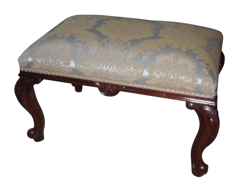 Victorian mahogany footstool circa 1860