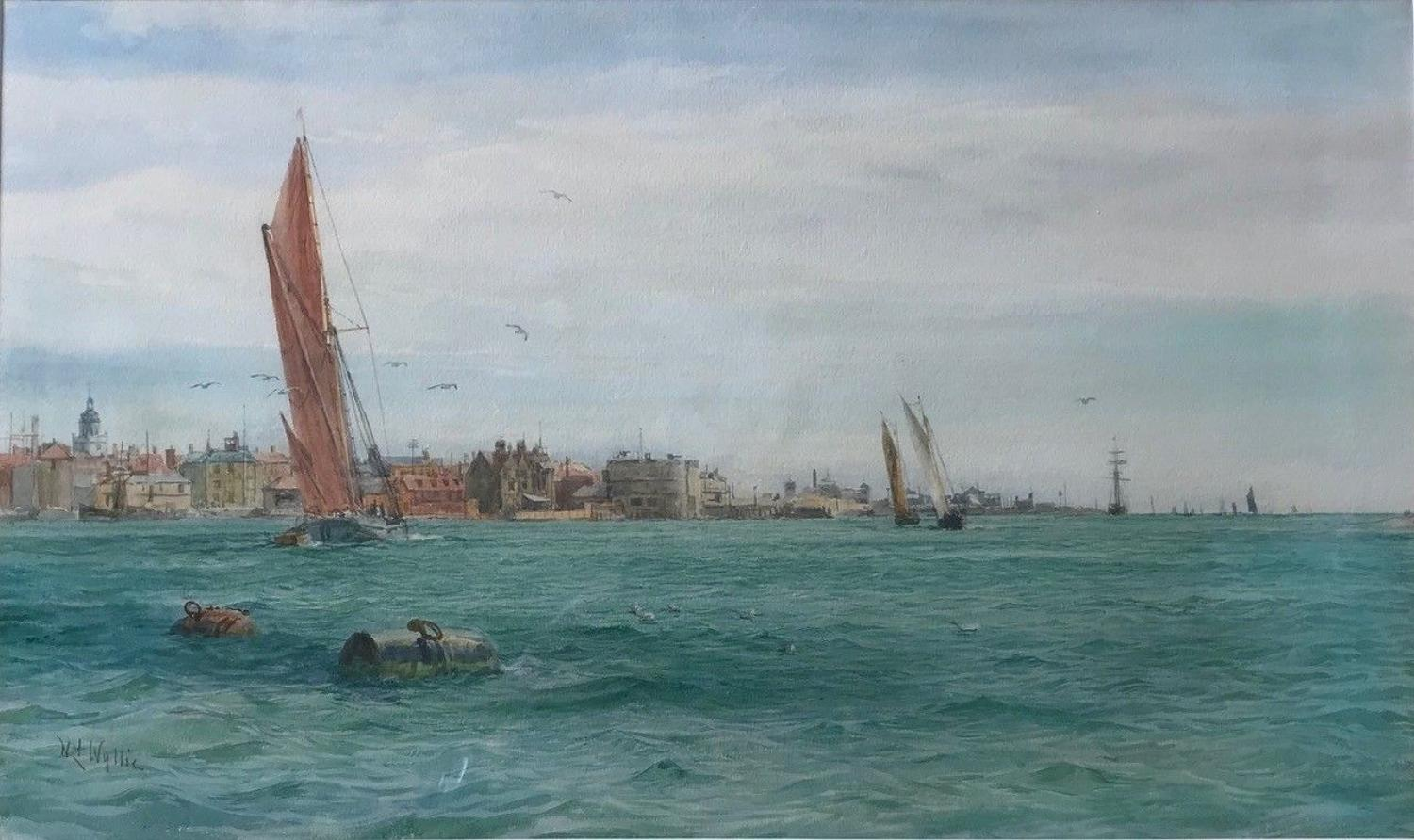 'Leaving Portsmouth Harbour' by W.L.Wyllie R.A.