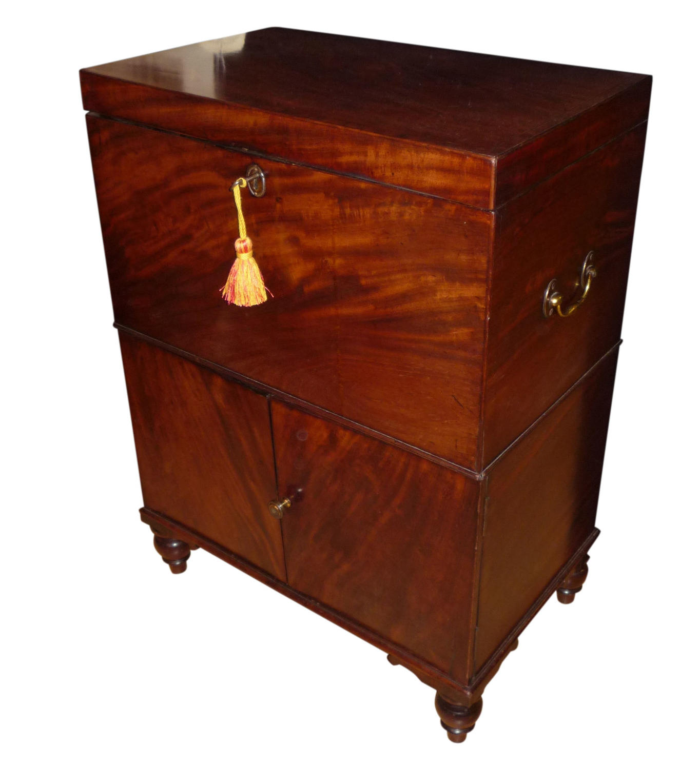 Georgian inlaid mahogany wine cellarette c1820