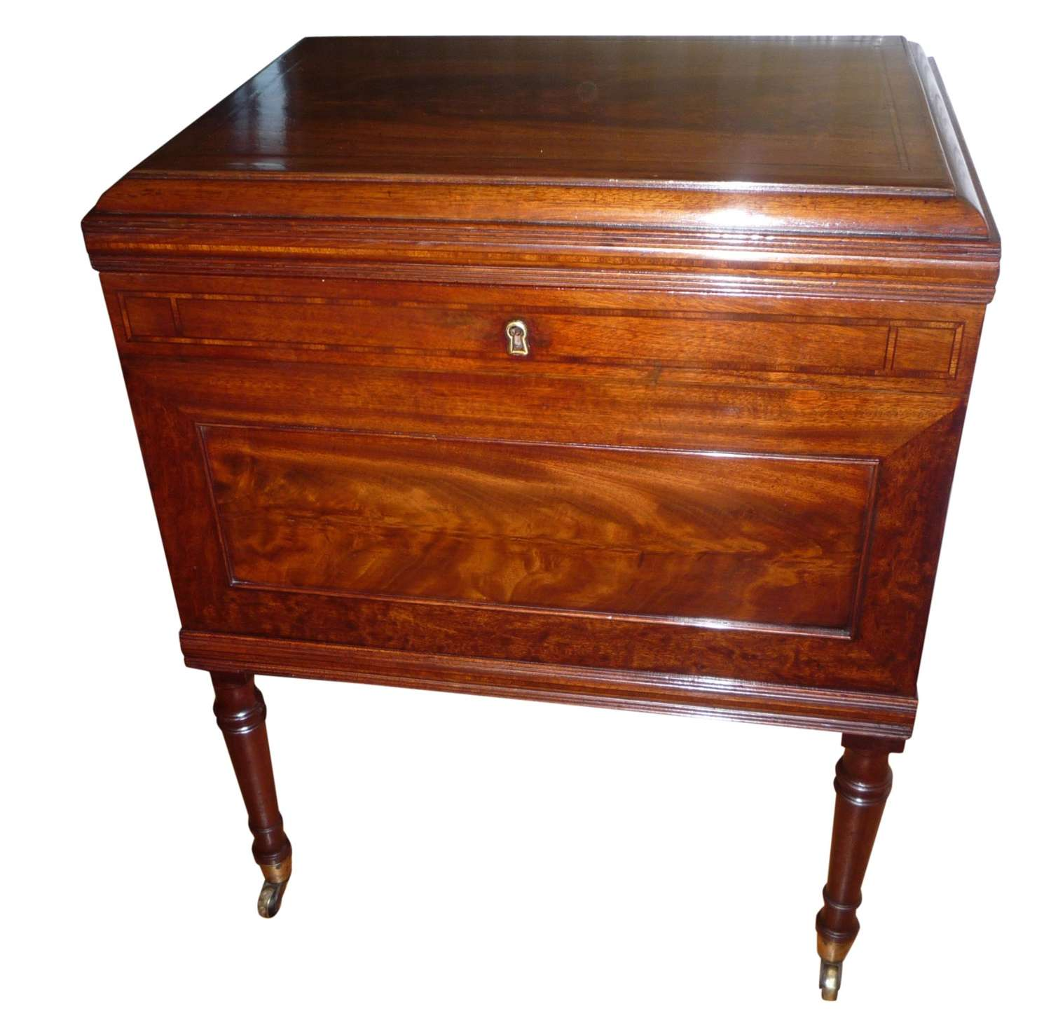 A Georgian mahogany wine cellaret circa 1820