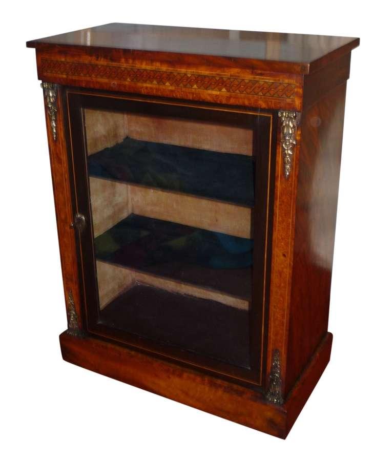 Small Victorian walnut dwarf cabinet circa 1880