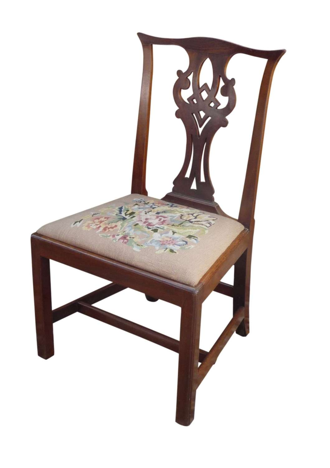 A Chippendale period mahogany side chair circa 1765