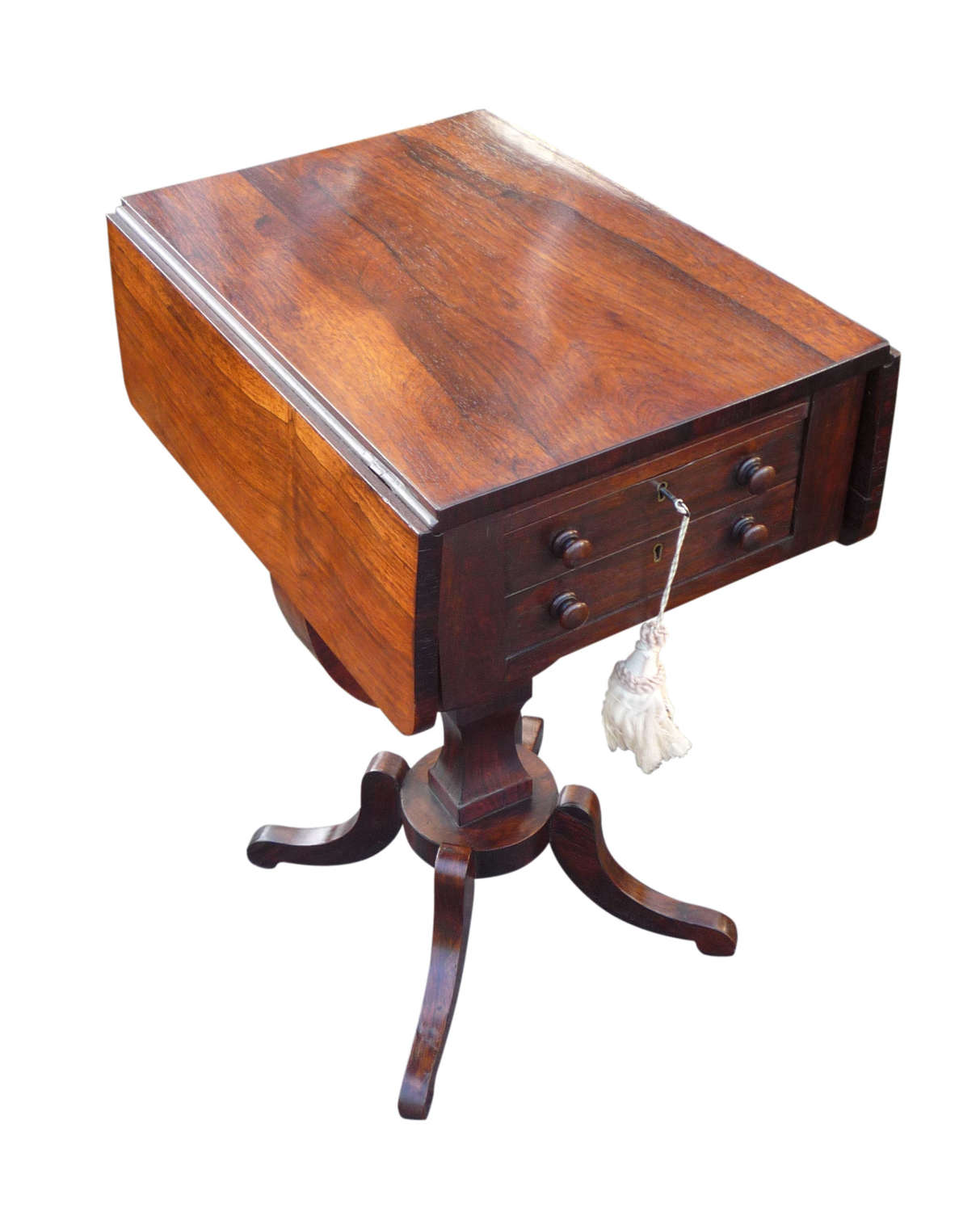 An attractive Regency rosewood sewing table circa 1820