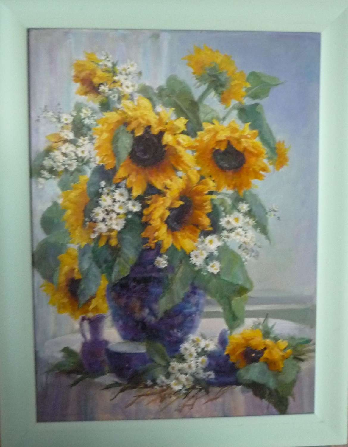 'Sun flowers 'oil painting by J.Rockingham