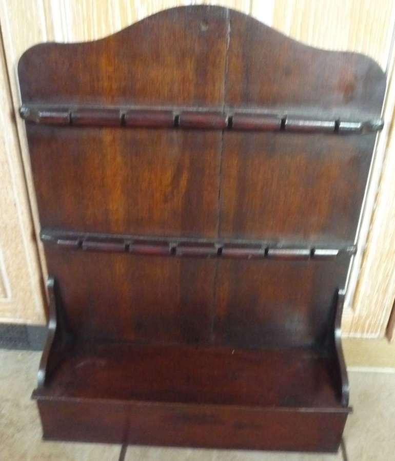 18th century oak spoon rack