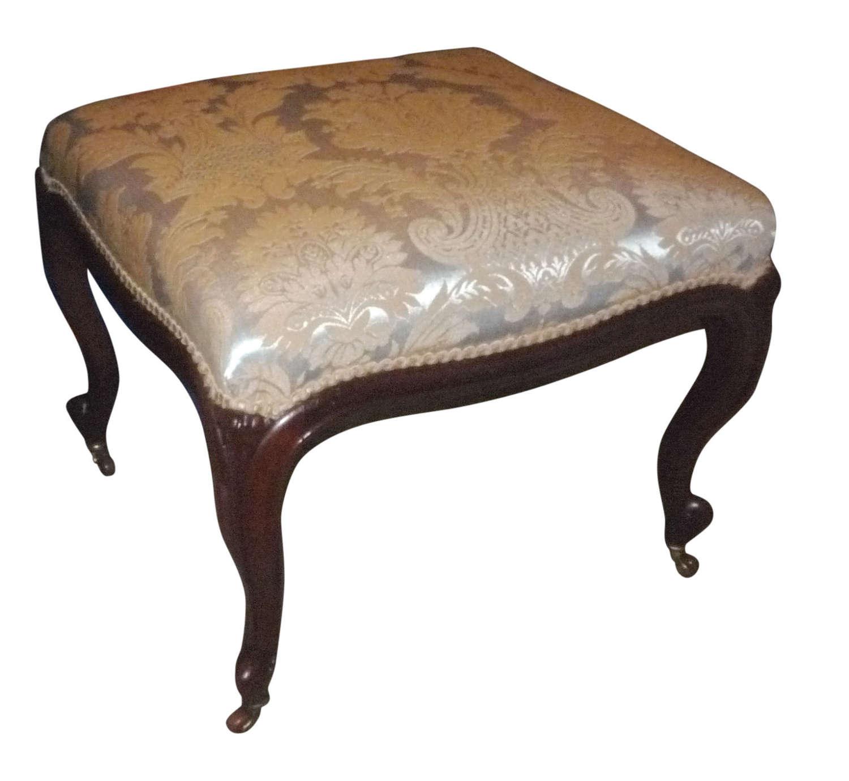 A large Victorian rosewood stool circa 1850
