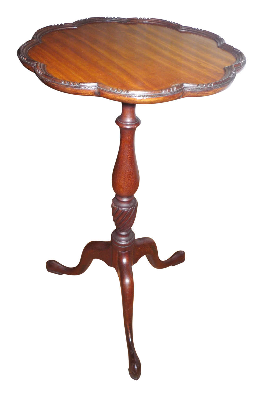 Mahogany wine table with satinwood top circa 1925