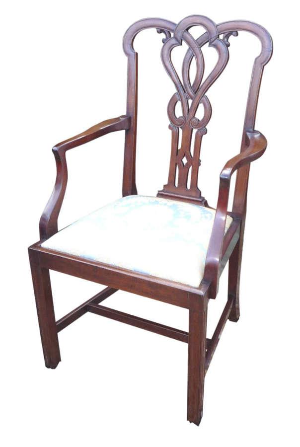 A Georgian style mahogany elbow chair circa 1860