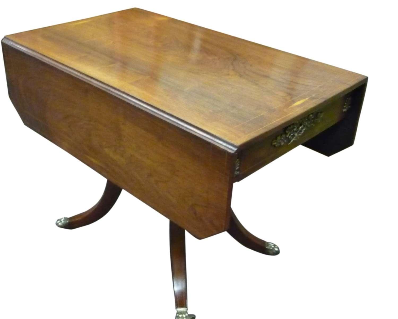 A beautiful Regency inlaid rosewood pembroke table circa 1820