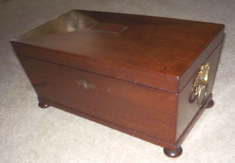 Georgian mahogany tea caddy circa 1820